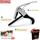 Quick change Guitar Capo (Silver) - Single handed use