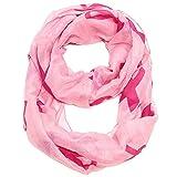 Falari Women's Pink Ribbon Breast Cancer Symbol Infinity Scarf