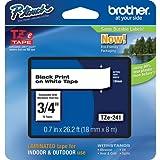 "Brother Part# TZe-241 Label Tape (OEM) 0.7"" Black Print on White"