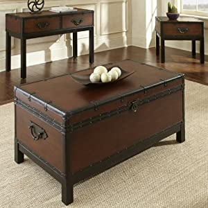 Steve silver voyage trunk coffee table 304 leps Silver trunk coffee table