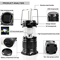 LED Solar Emergency Light Lantern + High light Toruch + USB Mobile Charger, 3 Power Source Solar, Battery, Lithium Battery, Travel Camping Lantern