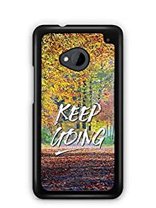 YuBingo Keep Going Designer Mobile Case Back Cover for HTC One M7