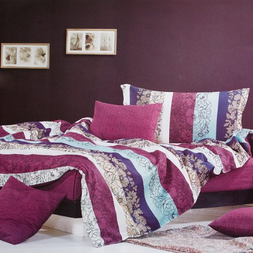 Blancho Bedding - [Love in the Rhine] Luxury 5PC Comforter Set Combo 300GSM (Queen Size)