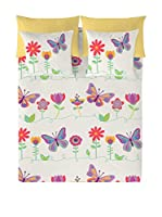 Valentina Juego De Funda Nórdica Happy Butterflies (Blanco/Multicolor)