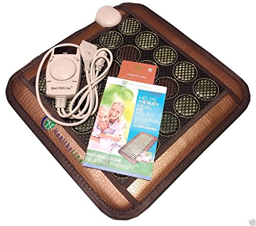 HealthyLine Natural Jade & Tourmaline, Negative Ions/FIR/Far-infrared/Multi Heat & Energy Therapy Healing Pad Mesh, 18