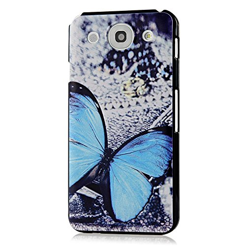 [YOKIRIN F240 Case - F240 Fashion Style Painted Blue Butterfly PC Case Hard Cover for LG Optimus G Pro E980 F240k F240s F240l - Blue] (Optimus Prime Costume 2016)
