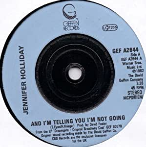 JENNIFER HOLLIDAY / AND I'M TELLING YOU THAT I'M NOT GOING