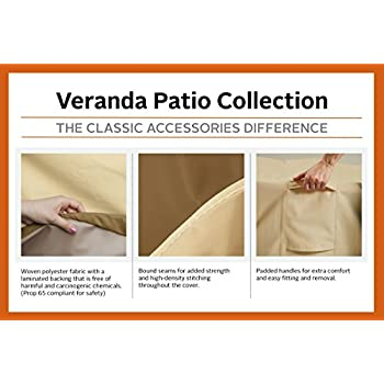 Classic Accessories 55-648-051501-00 Veranda Patio Cushion & Cover Storage Bag, Oversized