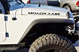 The Pixel Hut Black Molon Labe Side Hood Decals for Jeep Wrangler TJ