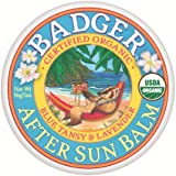 Badger Certified Organic After Sun Balm (56g, 2oz Blue Tansy and Lavender)
