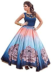 Style Shop Beautiful Collection Women Georgette Partywear Gown ( Free Size )