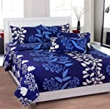 Zesture beautifully printed 100 % cotton bedsheet with 2 pillow covers -multicolor