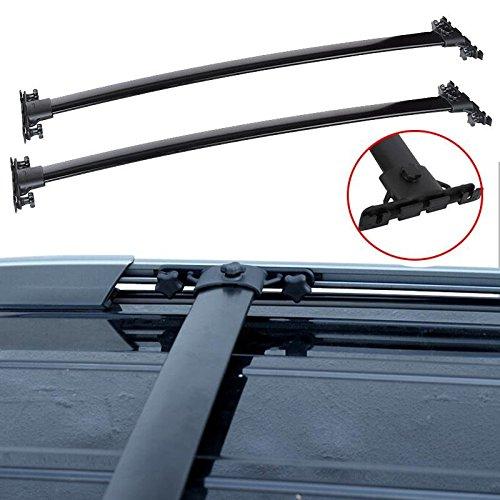 auxmart-roof-rack-cross-bars-for-2008-2013-toyota-highlander-aircraft-aluminum-black