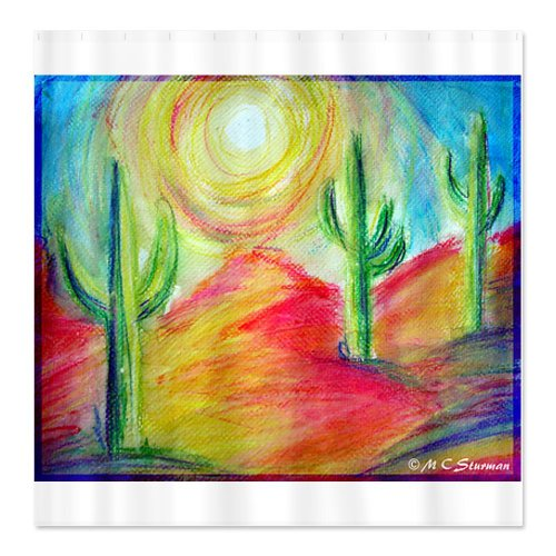 CafePress Desert, Southwest Art Shower Curtain   Standard White