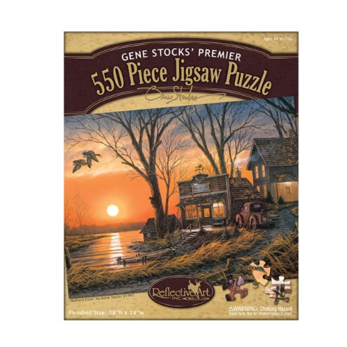 Reflective Art Mallard Cove Jigsaw Puzzle, 550-Piece