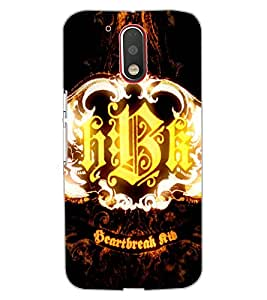 ColourCraft HBK Design Back Case Cover for MOTOROLA MOTO G4