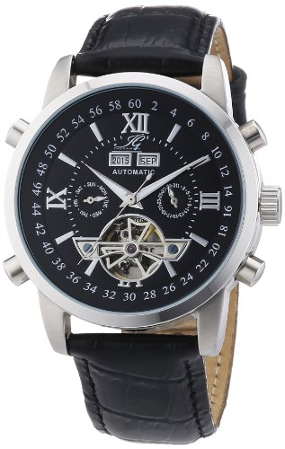 Ingraham Men's Automatic Watch Calcutta IG CALC.1.200107 with Leather Strap