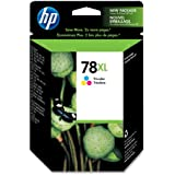 HP 78XL Tri-Color Ink Cartridge C6578AN#140 in Retail Packaging