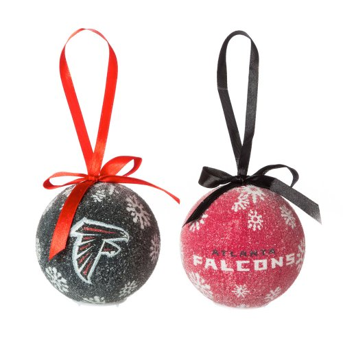 Atlanta Falcons Led Boxed Christmas Ornament Set