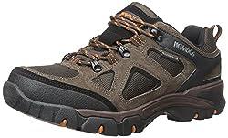 Nevados Mens Spire Low Waterproof Hiking Shoe Dark Brown/Orange/Black 12 D(M) US