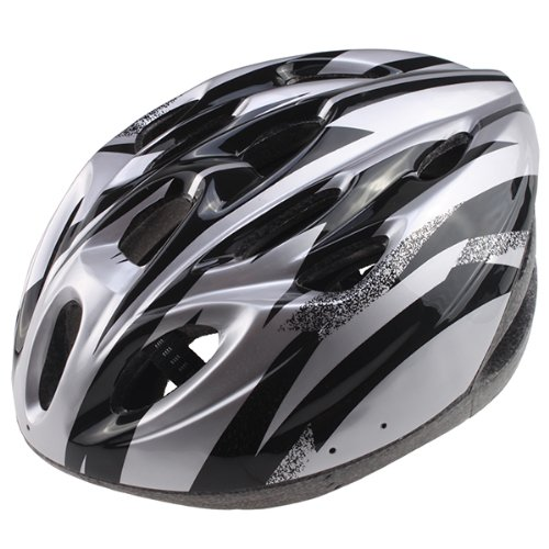 AGPtek® New 2013 Mens Bicycle Helmet Bike Cycling Adult Ultra-light Visor PVC EPS Black with Silver (CE Certificated)