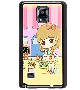 Printvisa Sweet Girl Gardening Back Case Cover for Samsung Galaxy Note 4 N910::Samsung Galaxy Note 4 Duos N9100