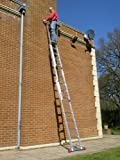 5.69m TRADE MASTER 3 Section Extension Ladder / Ladders with Integral Stabiliser