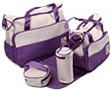 5 Piece Baby Changing Bag - Various Colours (Purple) by Baby World