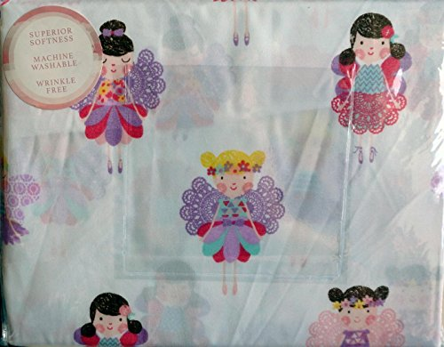 Nicole Miller Home Kids Twin Sheet Set ~ Fairies (Fairy Sheets Twin compare prices)