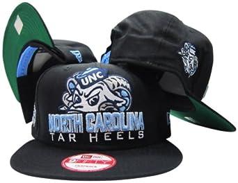 University of North Carolina Tar Heels Black Plastic Snapback Adjustable Plastic Snap... by New Era