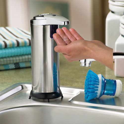 Stainless Steel Automatic Soap Dispenser by Collections Etc