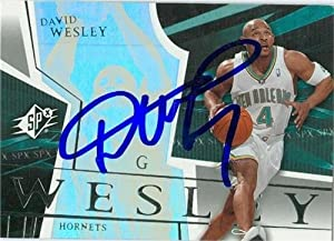 David Wesley Autographed Hand Signed Basketball Card (New Orleans Hornets) 2003 SPX...