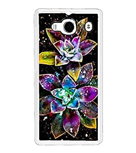 Sparkling Multicolour Flowers 2D Hard Polycarbonate Designer Back Case Cover for Xiaomi Redmi 2S :: Xiaomi Redmi 2 Prime :: Xiaomi Redmi 2