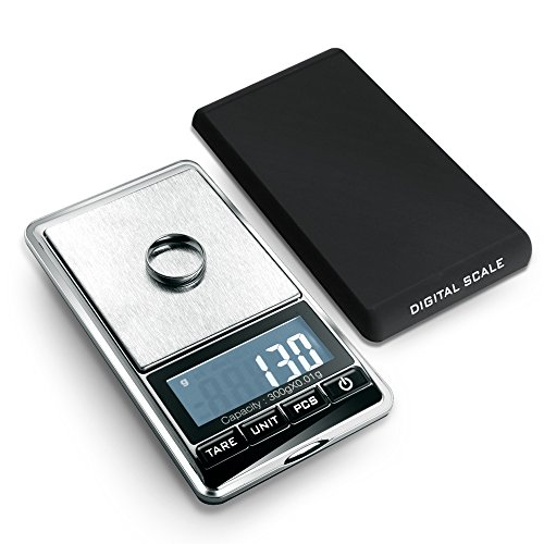 Flexzion-Jewelry-Scale-Digital-Mini-Diamond-Gold-Coin-Small-Items-Weight-Gram-Weigh-Pocket-Tool-LCD-Display-300g-x-001g-Precision-Portable-7-Unit-Switch-Silver