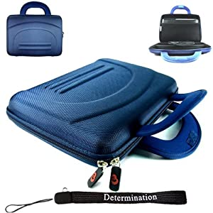 Sony DVP-FX730 7-Inch Portable DVD Player Kroo 11273 Cube Case (BLUE) + Includes a Determination Hand Strap