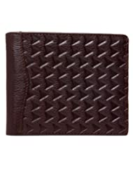 RL W 38- Br Brown Leather Arrow Wallet For Men