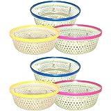 Fat-Lady Plastic Fruit & Vegetable Basket,Set Of 6Pcs, Multi Color