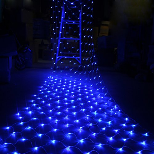 Cvlife 24V Safe 4.5M X 1.6M 320 Led Blue Net Fairy Light Lighting Christmas Xmas Wedding Lights 8 Modes