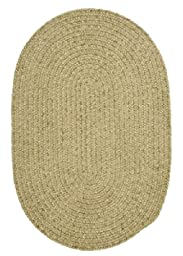 Spring Meadow Round Rug, 4-Feet, Sprout Green