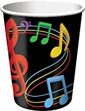 Creative Converting 8 Count Dancing Music Notes HotCold Cups  9 oz Multicolor