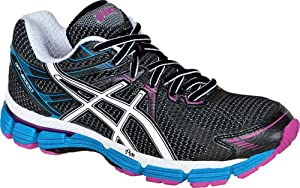 ASICS Women's GT-2000 Running Shoe,Black/White/Electric Blue,8.5 B US