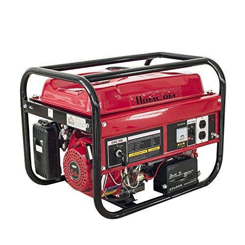 HomCom 5.5HP 2000 Watt 4-Stroke Gas Powered Portable Generator - Red