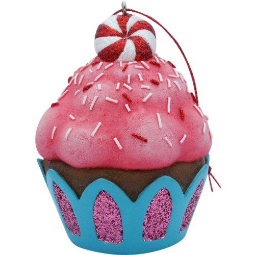 Jillson Roberts Christmas Cupcake Ornament, Pink