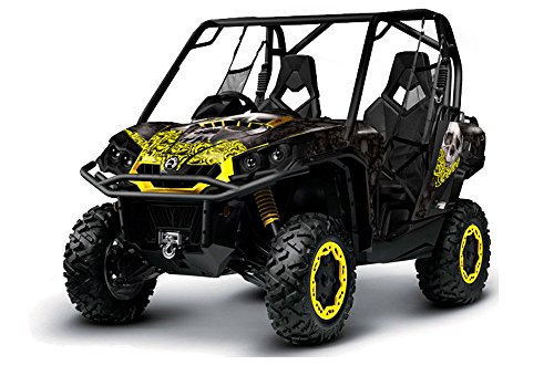 AMR-Racing-Can-Am-BRP-Commander-UTV-Side-X-Side-Graphic-Decal-Kit-Bone-Col