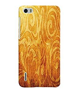Fuson 3D Printed Pattern Designer Back Case Cover for Huawei Honor 6 - D972