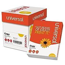 Universal 11289 Plain Paper for Fax, Copier, Printer; White 8.5 x 11, 20 lb.; 2500 Sheets/Carton
