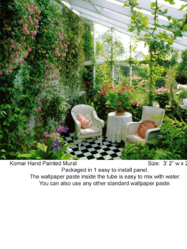 Wallpaper Brewster Komar photomurals Vol 8 Conservatory 1 panel 1063
