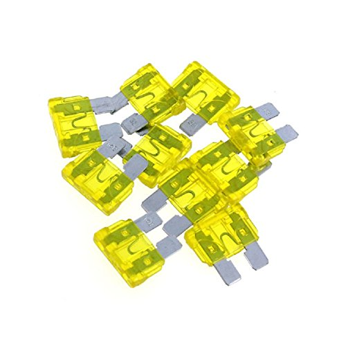 Sannysis(Tm) Useful 50Pc Car Accessory Assorted Auto Truck Boat Standard Blade Fuse 30A(Yellow)
