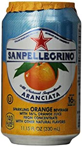 San Pellegrino Sparkling Fruit Beverages, Aranciata/Orange 11.15-ounce cans (Total of 24)