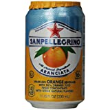 San Pellegrino Sparkling Fruit Beverages, Aranciata/Orange 11.15-ounce cans (Total of 24) ~ San Pellegrino